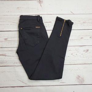 Zara Woman Black Jeans Size 4 Zipper Cuffs